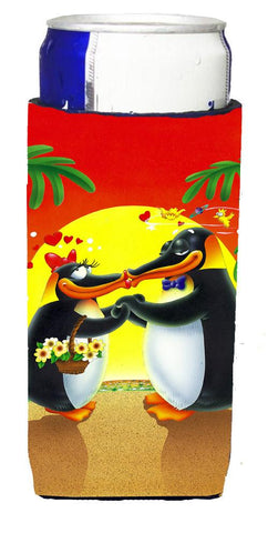 Buy this In Love Valentine's Day Penguins Michelob Ultra Beverage Insulators for slim cans APH0245MUK
