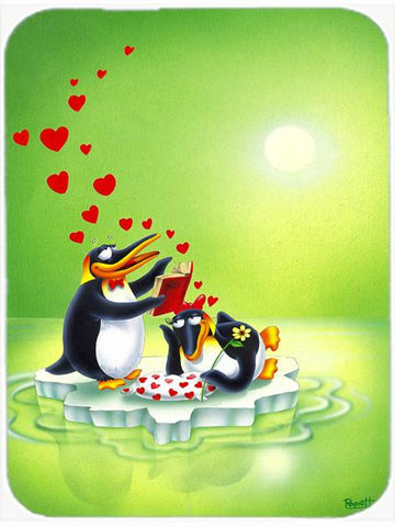 Buy this My Love Song Penguins Glass Cutting Board Large APH0246LCB