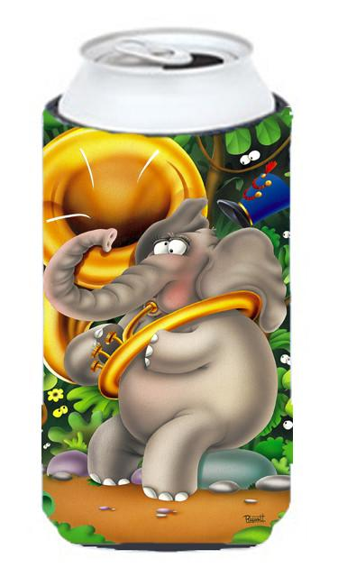 Elephant playing the Tuba Tall Boy Beverage Insulator Hugger APH0248TBC by Caroline's Treasures