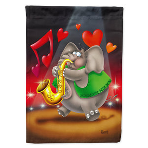 Buy this Elephant playing the Saxaphone Flag Canvas House Size