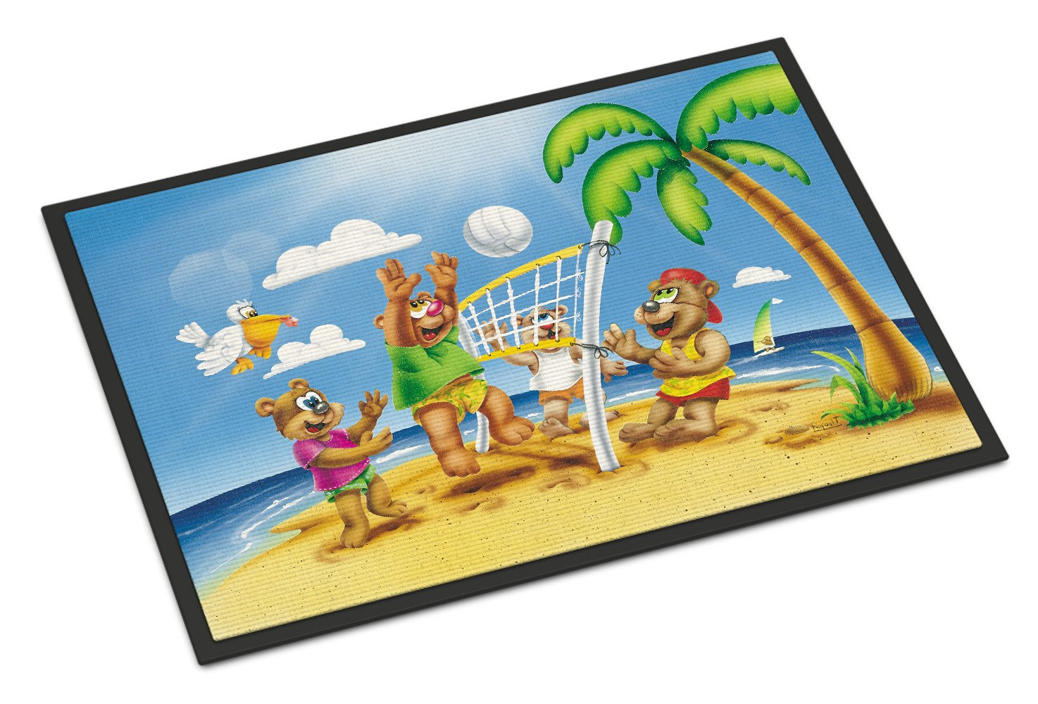 Bears Playing Volleyball Indoor or Outdoor Mat 18x27 APH0373MAT by Caroline's Treasures