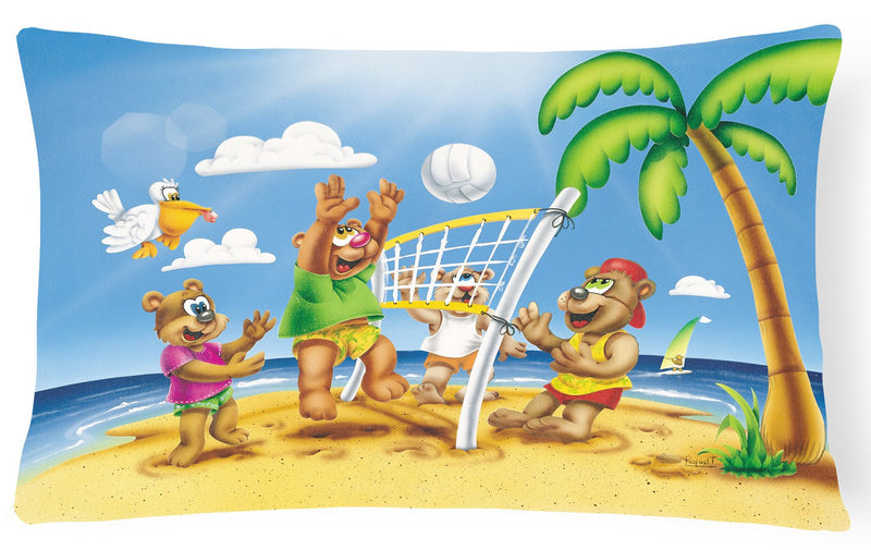 Bears Playing Volleyball Fabric Decorative Pillow APH0373PW1216 - the-store.com