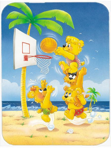 Buy this Bears playing Basketball Glass Cutting Board Large APH0388LCB