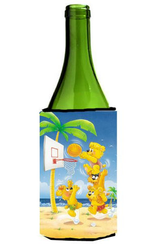 Buy this Bears playing Basketball Wine Bottle Beverage Insulator Hugger APH0388LITERK