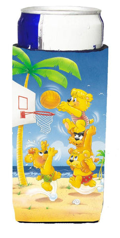 Buy this Bears playing Basketball Michelob Ultra Beverage Insulators for slim cans APH0388MUK