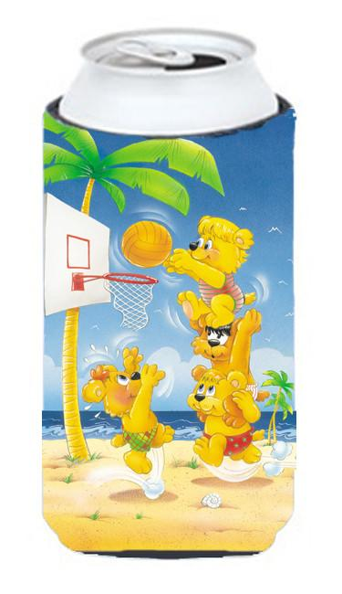 Bears playing Basketball Tall Boy Beverage Insulator Hugger APH0388TBC by Caroline's Treasures
