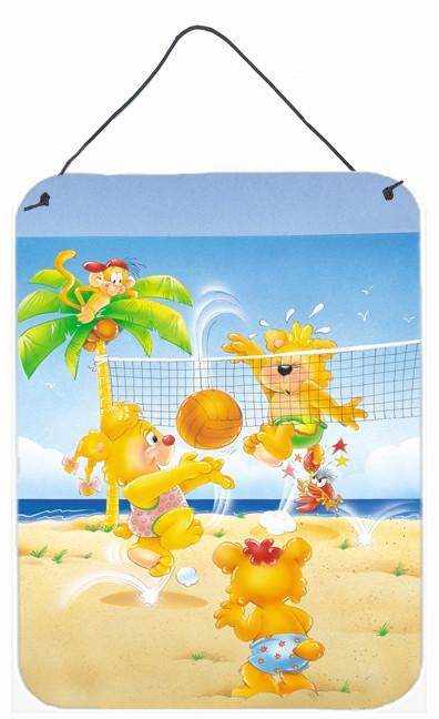 Bears playing Volleyball Wall or Door Hanging Prints APH0389DS1216 by Caroline's Treasures
