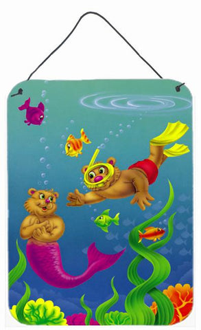 Buy this Teddy Bear Mermaid and Diver Wall or Door Hanging Prints APH0414DS1216