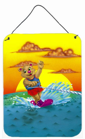 Buy this Teddy Bear Water Skiing Wall or Door Hanging Prints APH0415DS1216