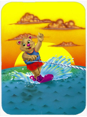 Buy this Teddy Bear Water Skiing Glass Cutting Board Large APH0415LCB