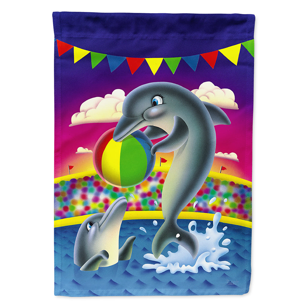 Buy this Dolphins performing for the crowds Flag Canvas House Size APH0417CHF