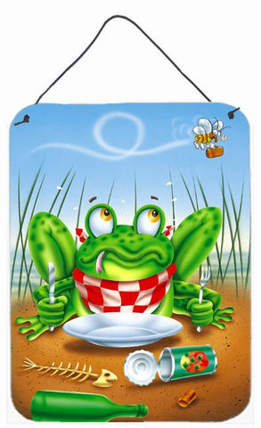 Buy this Frog Happy Plate Wall or Door Hanging Prints APH0520DS1216