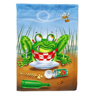 Buy this Frog Happy Plate Flag Garden Size