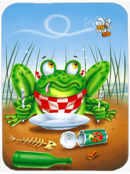 Buy this Frog Happy Plate Glass Cutting Board Large APH0520LCB