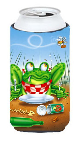 Buy this Frog Happy Plate Tall Boy Beverage Insulator Hugger APH0520TBC
