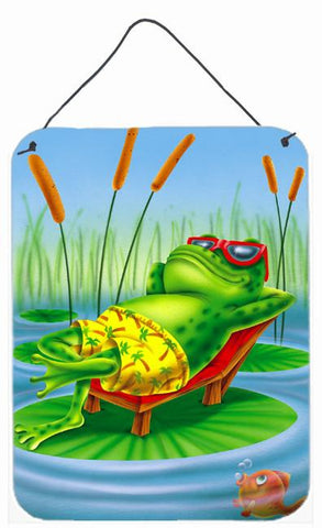 Buy this Frog Chilaxin on the Lilly Pad Wall or Door Hanging Prints APH0521DS1216
