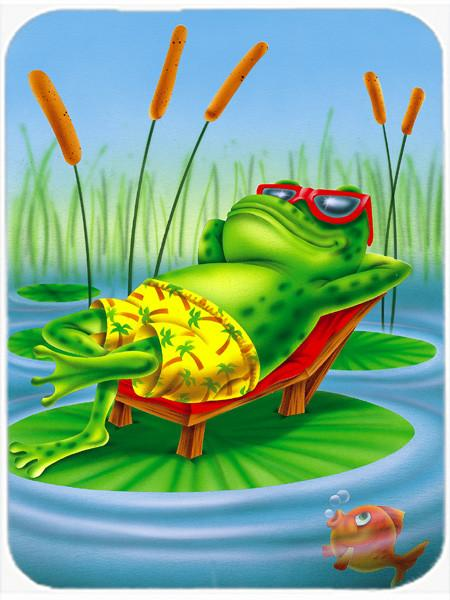 Buy this Frog Chilaxin on the Lilly Pad Glass Cutting Board Large APH0521LCB