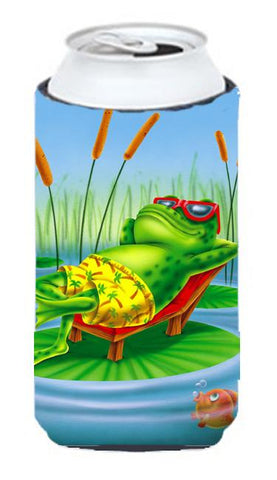 Buy this Frog Chilaxin on the Lilly Pad Tall Boy Beverage Insulator Hugger APH0521TBC