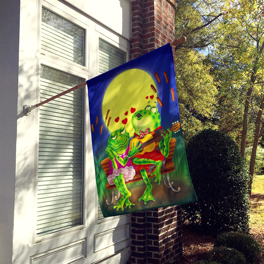 Buy this Frog Love Songs Flag Canvas House Size APH0522CHF