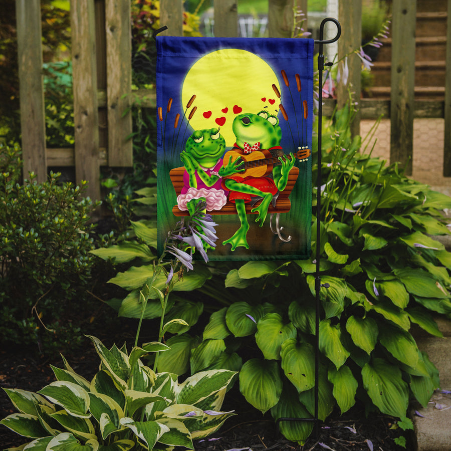 Buy this Frog Love Songs Flag Garden Size