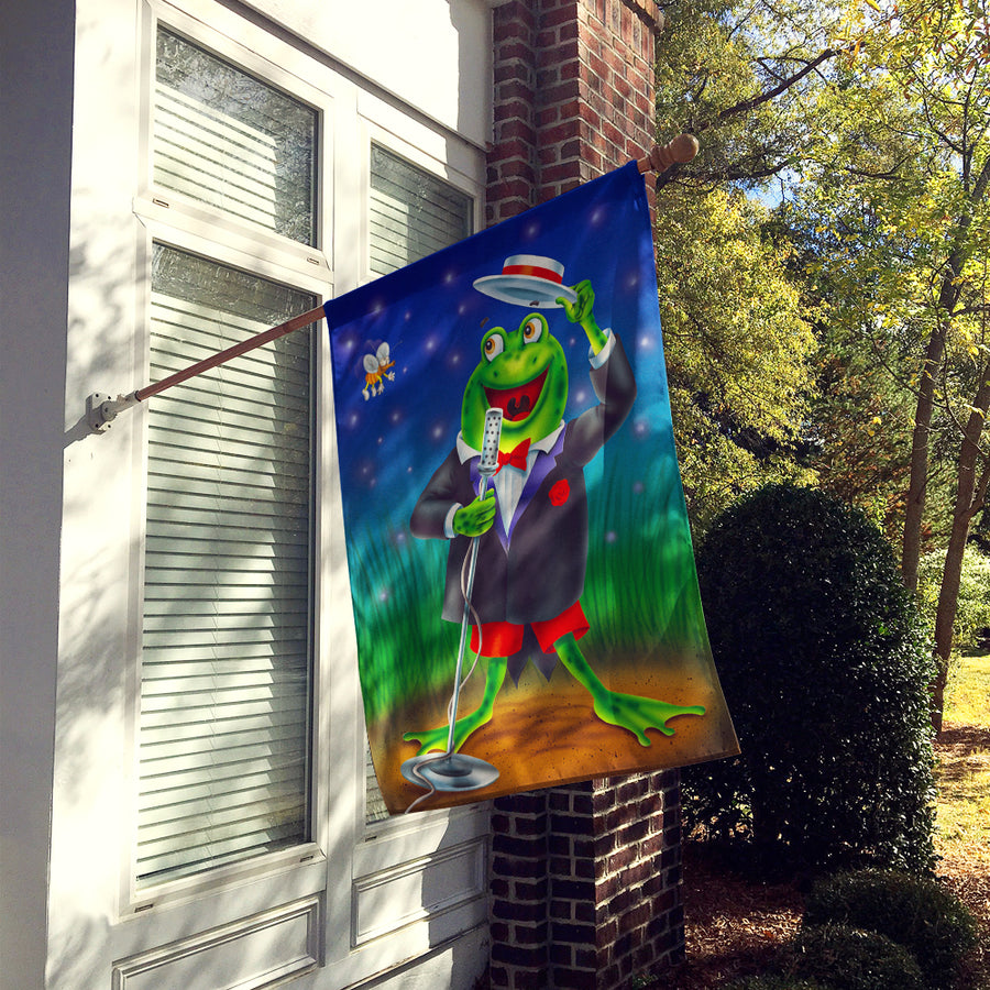 Buy this Frog Comedy Routine Flag Canvas House Size APH0523CHF