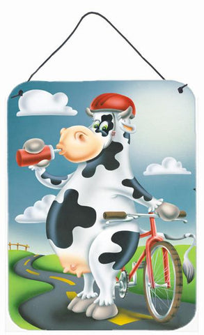 Buy this Cow on a Bike Ride Wall or Door Hanging Prints APH0532DS1216