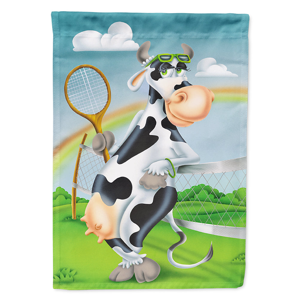 Buy this Cow playing Tennis Flag Canvas House Size APH0533CHF