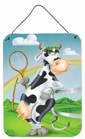 Buy this Cow playing Tennis Wall or Door Hanging Prints APH0533DS1216