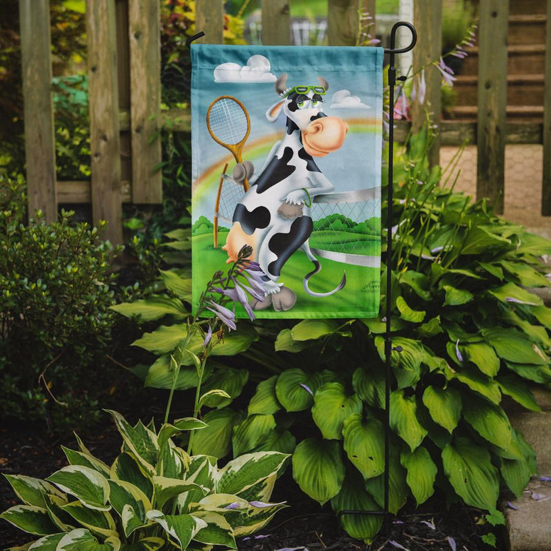 Buy this Cow playing Tennis Flag Garden Size APH0533GF