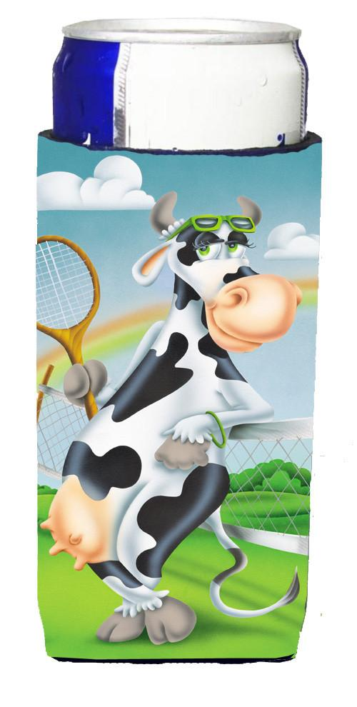 Cow playing Tennis Michelob Ultra Beverage Insulators for slim cans APH0533MUK - the-store.com