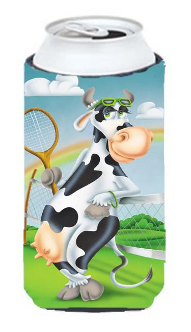 Cow playing Tennis Tall Boy Beverage Insulator Hugger APH0533TBC - the-store.com