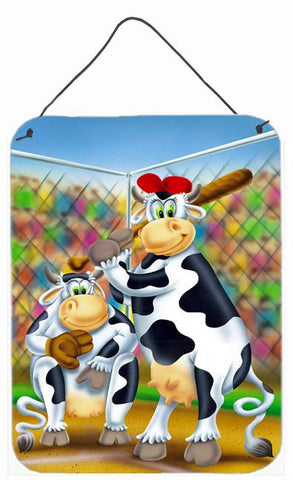 Buy this Cow playing Baseball Wall or Door Hanging Prints APH0534DS1216