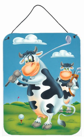 Buy this Cow playing Golf Wall or Door Hanging Prints APH0535DS1216