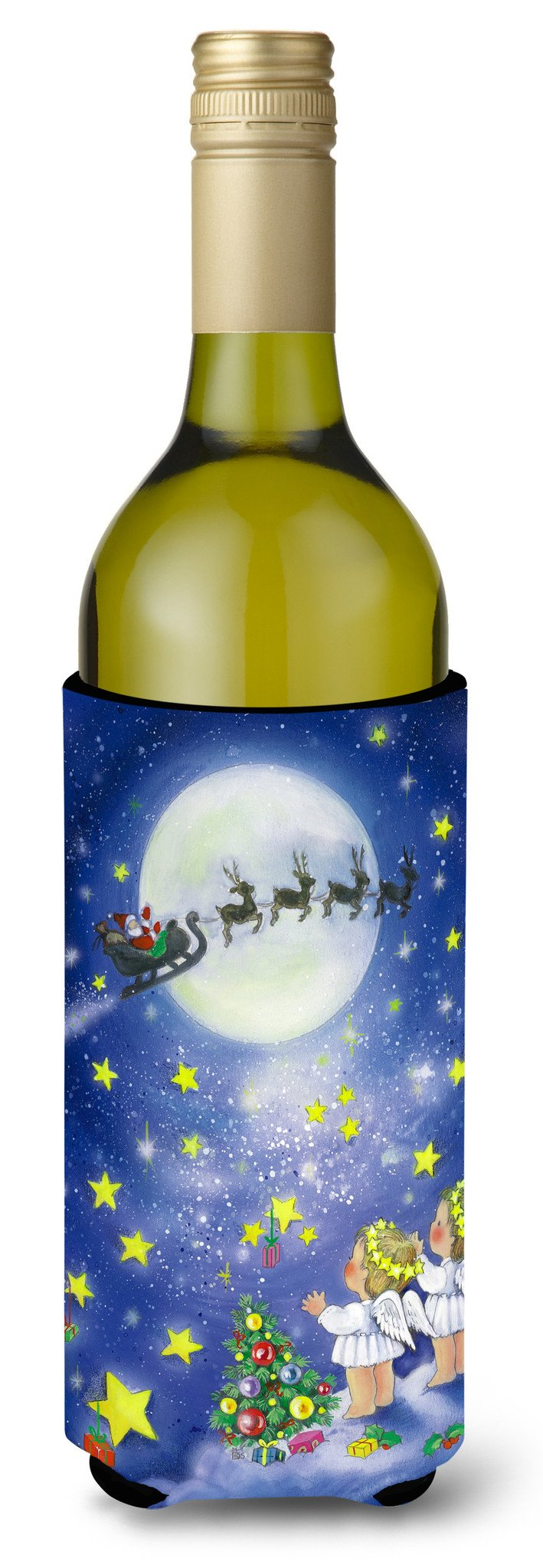Buy this Angels watching Santa Claus Wine Bottle Beverage Insulator Hugger APH0690LITERK