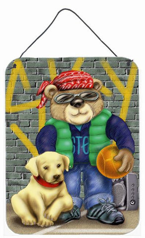Buy this Teddy Bear and his Lab Wall or Door Hanging Prints APH0856DS1216