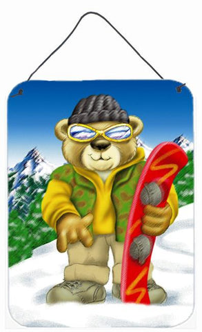 Buy this Teddy Bear Snowboarding Wall or Door Hanging Prints APH0857DS1216
