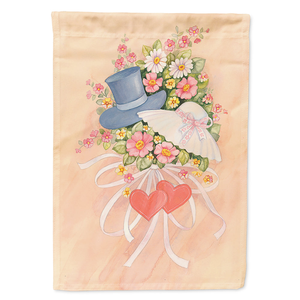 Love Valentine's Day Bouquet Flag Canvas House Size APH2039CHF by Caroline's Treasures