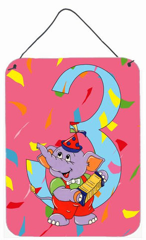 Buy this Happy 3rd Birthday Age 3  Wall or Door Hanging Prints APH2160DS1216