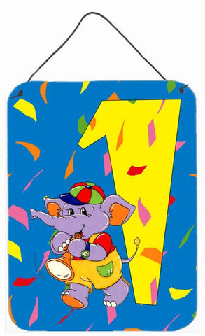 Buy this Happy 1st Birthday Age 1 Wall or Door Hanging Prints APH2161DS1216