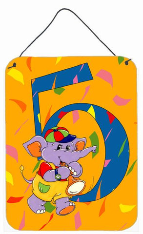 Buy this Happy 5th Birthday Age 5 Wall or Door Hanging Prints APH2163DS1216