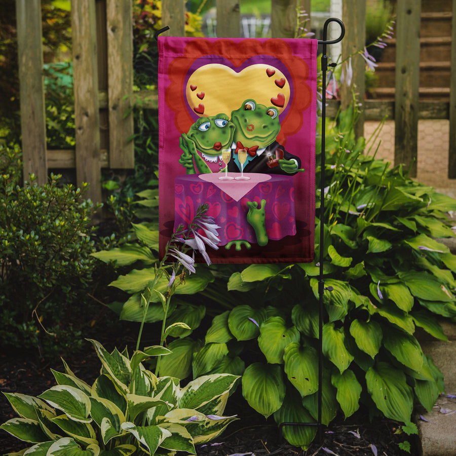 Buy this Frog Valentine's Day Date Flag Garden Size APH2477GF