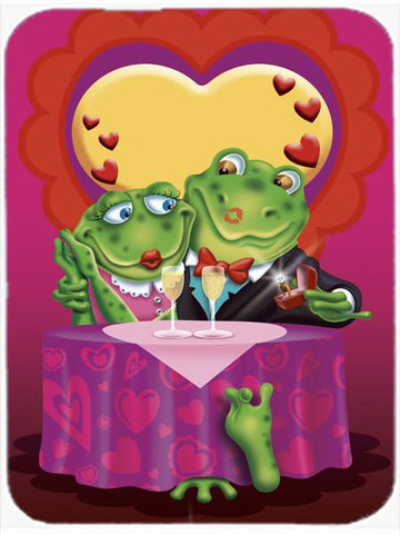 Buy this Frog Valentine's Day Date Glass Cutting Board Large APH2477LCB