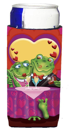 Buy this Frog Valentine's Day Date Michelob Ultra Beverage Insulators for slim cans APH2477MUK