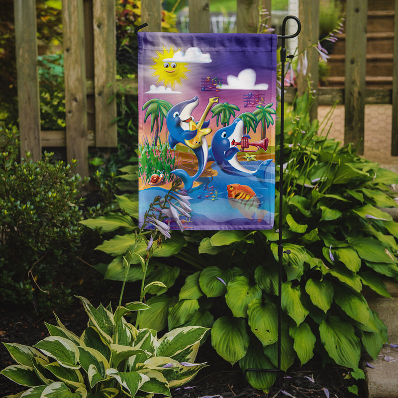 Buy this Dolphin's Playing Music Flag Garden Size