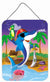 Dolphin Pirate Wall or Door Hanging Prints APH2486DS1216 by Caroline's Treasures