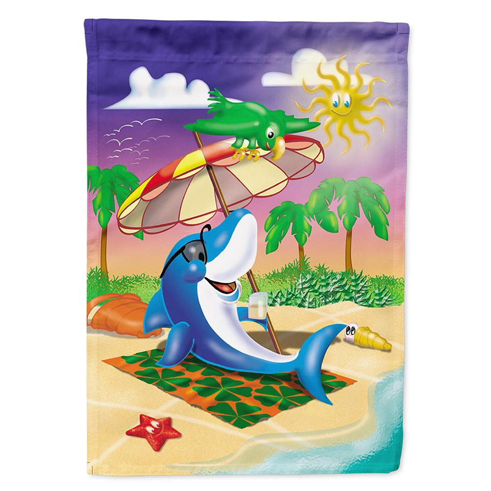 Buy this Dolphin Sunning on the Beach Flag Garden Size APH2488GF