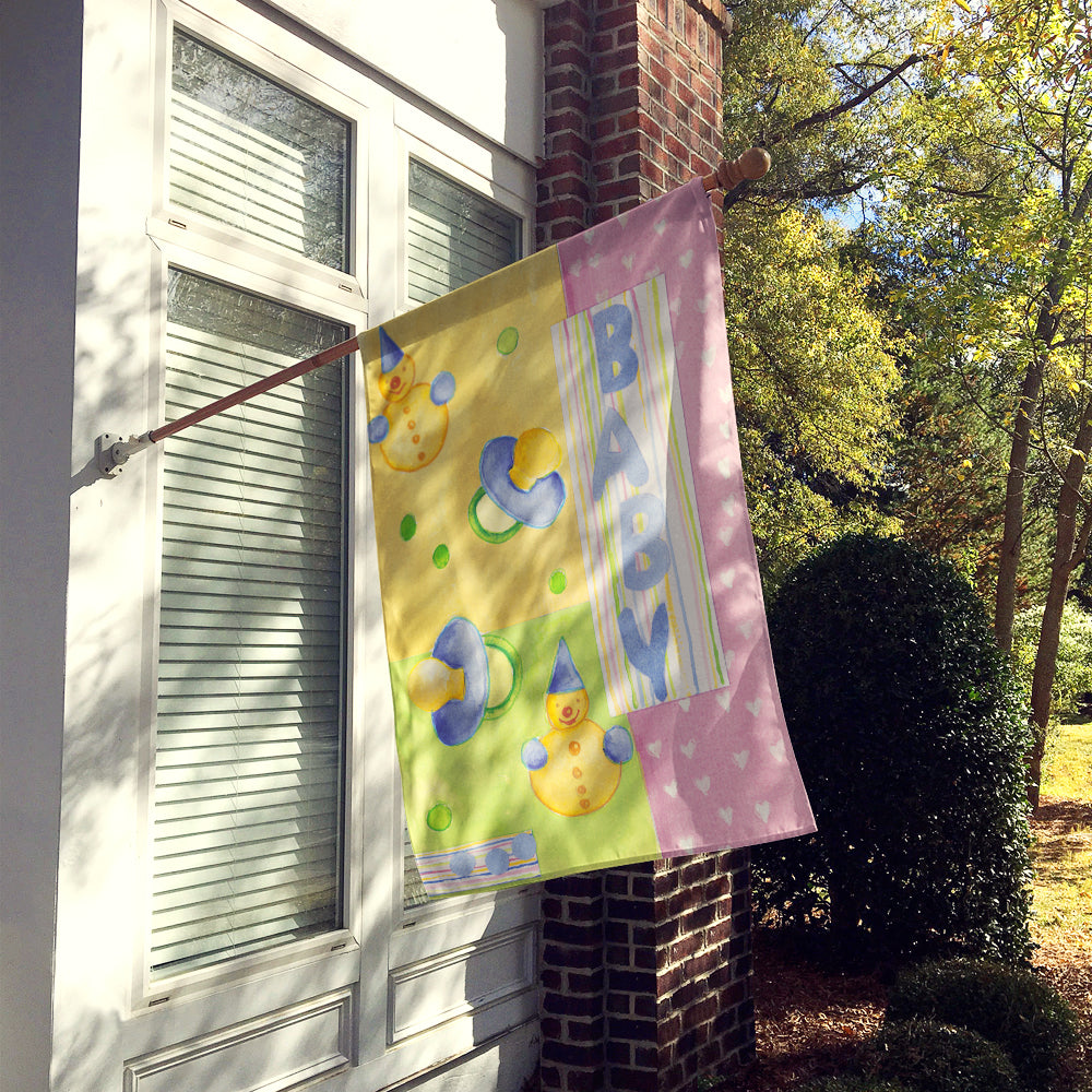New Baby Flag Canvas House Size by Caroline's Treasures