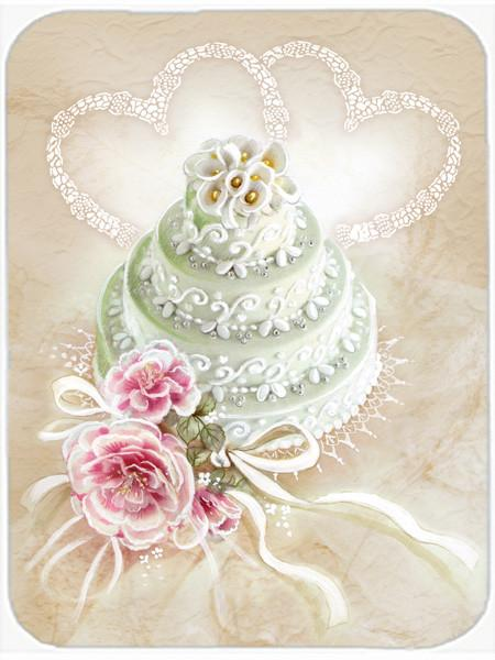 Wedding Cake Glass Cutting Board Large APH3648LCB by Caroline's Treasures