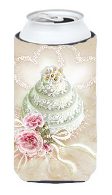 Wedding Cake Tall Boy Beverage Insulator Hugger APH3648TBC by Caroline's Treasures