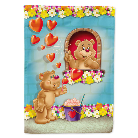 Buy this Teddy Bear Romeo and Juliet Love Flag Garden Size APH3815GF